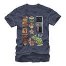 Nintendo Mario Retro Set Blue T-Shirt
