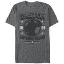 Disney Beauty And The Beast Gaston Gym Gray T-Shirt