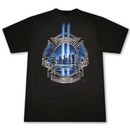 Patriotic Firefighter High Honor Tribute USA Black Graphic T-Shirt