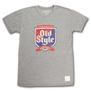Old Style Shield Faded Retro Vintage Heather Grey T Shirt