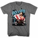 Rocky Airbrush Mens Graphite T-Shirt
