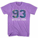 Saved By The Bell Pattern Varsity Purple T-Shirt