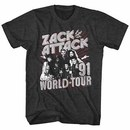 Saved By The Bell Zack Attack World Tour Mens Gray T-Shirt