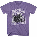 Saved By The Bell Zack Attack '91 Tour Purple T-Shirt
