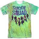 Suicide Squad Acid Wash Sublimated Men's Tshirt