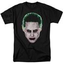 Suicide Squad The Joker Portrait Men's Black Tshirt