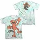 Sesame Street Elmo Scribble  White 2-Sided Sublimation T-Shirt