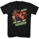 Street Fighter Never Succeed Black T-Shirt