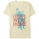 Star Wars Chewie Han Overlay Beige T-Shirt