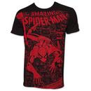 Spider-Man Amazing Jumbo Subway Print TShirt - Black