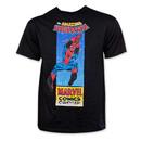 Swinging Spiderman Black T-Shirt