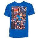Superman Police Cars TShirt - Blue