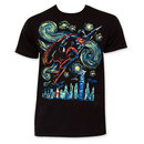 Superman Flying Starry Night Tee Shirt