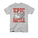 Family Guy Epic Battle Gray Tee Shirt