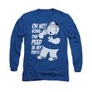 Family Guy Peed My Pants Blue Long Sleeve T-Shirt