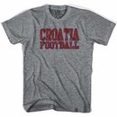 Croatia Vintage Soccer Gray T-Shirt