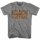 Belgium Voetbal Nation Soccer Gray T-Shirt