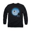 E.T. The Extra Terrestrial Moon Black Long Sleeve T-Shirt