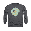 E.T. The Extra Terrestrial In The Moon Gray Long Sleeve T-Shirt