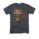 Back To The Future Men's Gray Items Tee Shirt