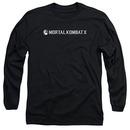 Mortal Kombat X Horizontal Logo Black Long Sleeve T-Shirt