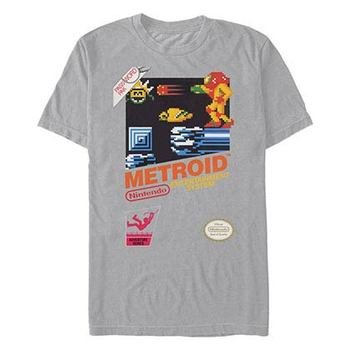 Nintendo Vintage Metroid Gray T-Shirt