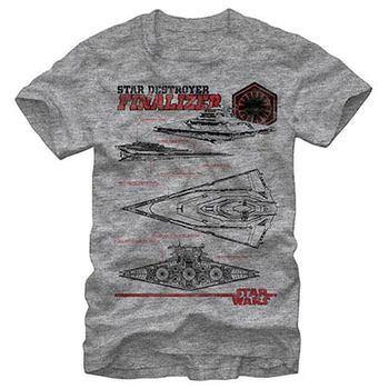 Star Wars Episode 7 Death Triangle Gray T-Shirt