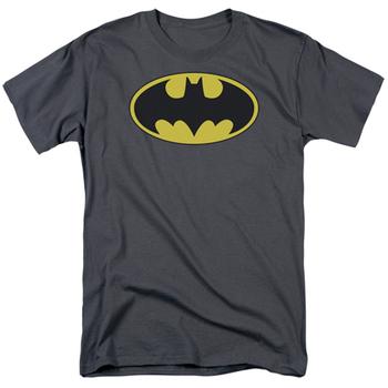 Batman Classic Bat Logo Men's Grey Tshirt