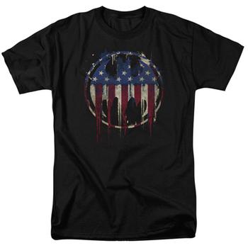 Batman Bleeding American Flag Bat Symbol Tshirt