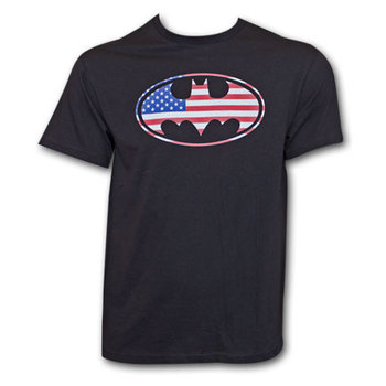 Batman American Flag Shirt Black