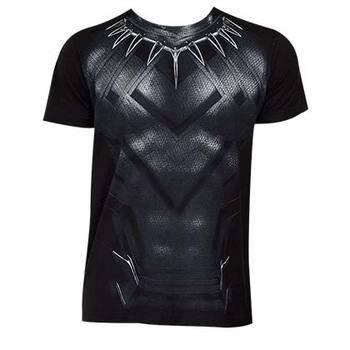 Captain America Civil War Black Panther Suit Costume Tee
