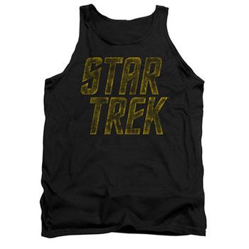 Star Trek Distressed Logo Black Tank Top
