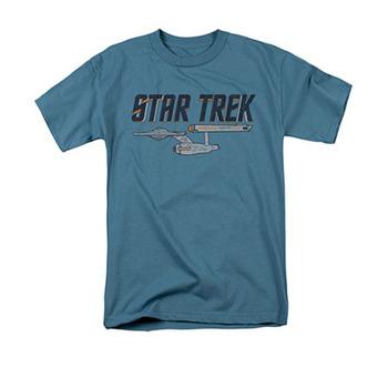 Star Trek Men's Blue Enterprise Logo Tee Shirt