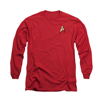 Star Trek Engineering Uniform Red Long Sleeve T-Shirt