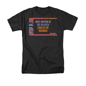 Star Trek Men's Black Holodeck Secrets Tee Shirt