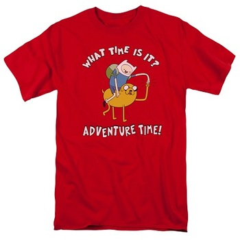 Adventure Time What Time Is It? Red Tshirt