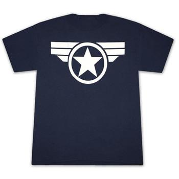Captain America Good Ol Steve Logo Navy Blue Graphic TShirt