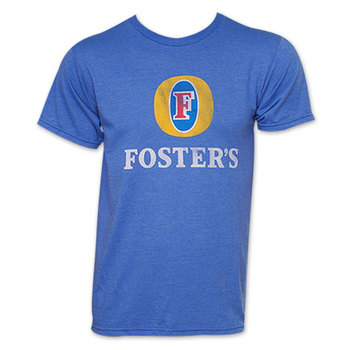 Foster's Beer Logo TShirt - Heather Blue