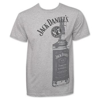 Jack Daniel's Whiskey Bottle Logo T-Shirt
