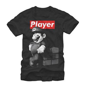 Nintendo Mario Player Black T-Shirt