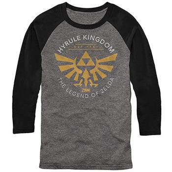 Nintendo Legend of Zelda Running Gray Long Sleeve T-Shirt