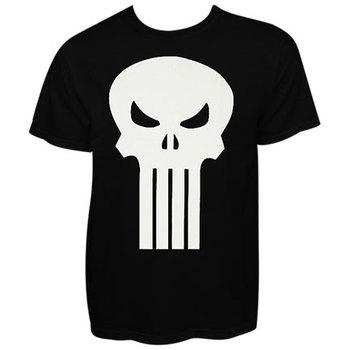 Punisher White Skull Black Graphic Tee Shirt