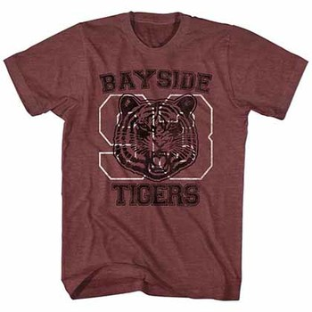 Saved By The Bell Bayside Tigers Mens Maroon T-Shirt
