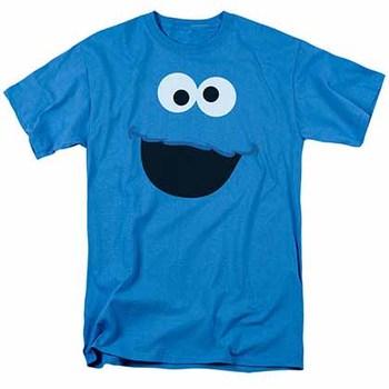 Sesame Street Cookie Monster Face Blue T-Shirt