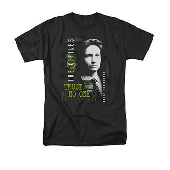 The X-Files Mulder Trust No One Black T-Shirt