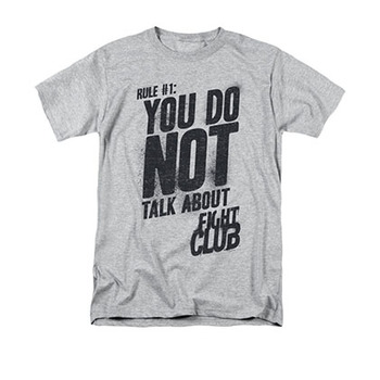 Fight Club Men's Gray Rule Number 1 Tee Shirt