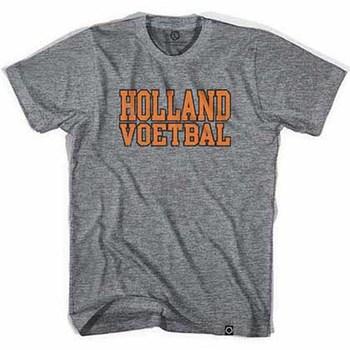 Holland Voetbal Vintage Soccer Gray T-Shirt