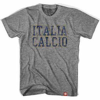 Italy Italia Calcio Vintage Soccer Gray T-Shirt