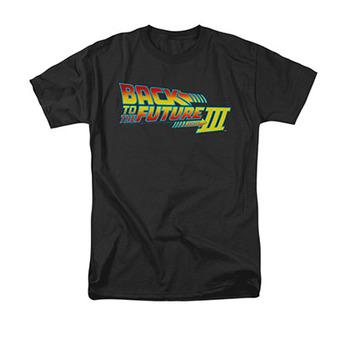 Back To The Future III Men's Black Movie Logo Tee Shirt