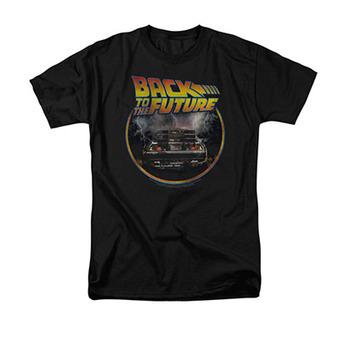 Back To The Future Men's Black Circle Logo Tee Shirt